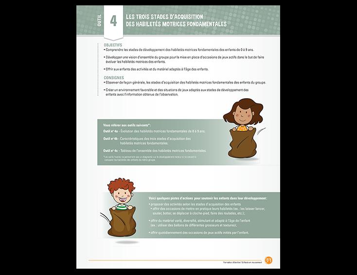3 stades d'acquisition des habiletés motrices fondamentales